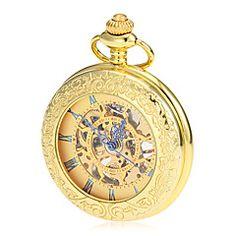メンズメカニカル中空の金合金懐中時計ダイヤル