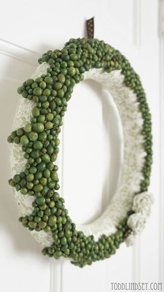 Acorn Rosette Wreath  - Todd and Lindsey