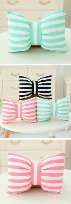 bowknot pillows by wteresa