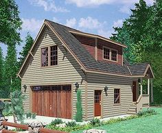Plan 8182LB: Carriage House In The Woods. Garage Studio ApartmentGarage ...