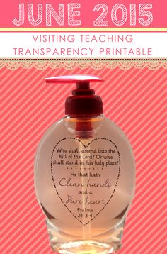 JUNE 2015 Visiting Teaching | Psalms scripture transparency PRINTABLE ~ fun and useful VT gift for June!