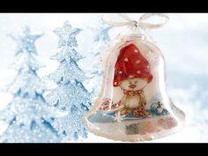 decoupage tutorial - campanellino natalizio