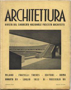 Rivista architettura 1933 - XI luglio fascicolo VII