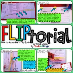 FLIPTorial - visual guide on how to assemble a flip book from my TpT store