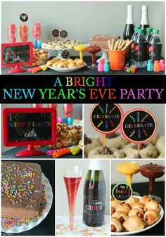 A bright new year themed New Year's Eve party ideas, New Year's Eve games, and New Year's Eve decoration ideas