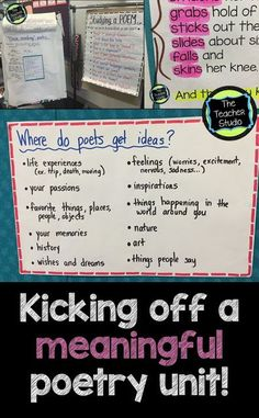 Do you love teaching poetry?  Dread it?  Check out this easy-to-use starter lesson!