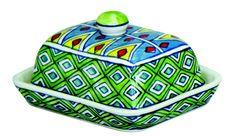 Gall& Zick Deko Traumhafte Butterdose Keramik handbemalt Geschirr - yatego.com