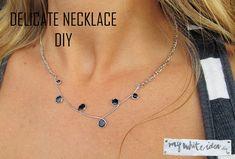 DIY Wire Necklace Tutorial using a glue gun and nail polish