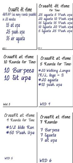 Crossfit at home - this would be great for vacations too when you don't have access to a gym but still want to work out!
