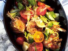 Kycklinggryta med tomat och lök