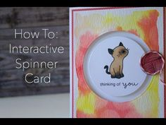 Tracy Mae Design: How to Create an Interactive Spinner Card (Video), card making, mama elephant, paper crafts, stamping, stamps, clear stamps, distress ink, simon says stamp
