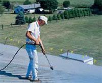 1 Power Wash And Clean Roof Metal Roof Repair Roof Restoration Metal Roof