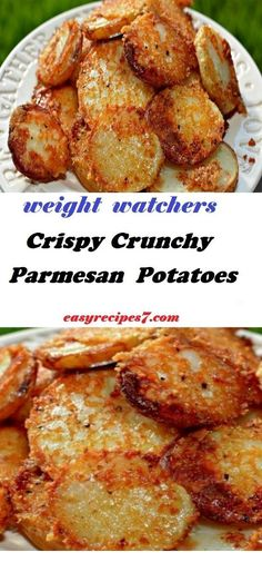 Crispy Crunchy Parmesan Potatoes - Happy Cooking , In the food recipe that you read this time with the title C Ww Recipes, Side Dish Recipes, Veggie Recipes, Cooking Recipes, Healthy Recipes, Recipes Dinner, Parmesan Recipes, Yummy Vegetarian Meals, Salads