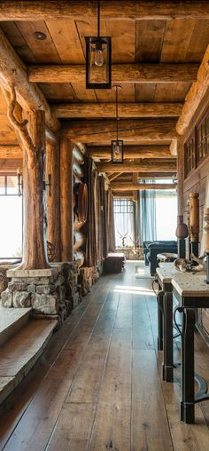Rustic foyer