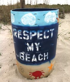 Respect my beach. All beaches! http://beachblissliving.com/world-oceans-day/