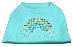 Rhinestone Rainbow Shirts Aqua L (14)