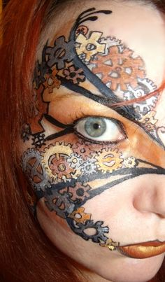 steampunk facepainting - Google Search