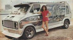 Custom 70's Dodge showvan
