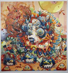 Pulse Miami 2013 Freight and Volume Gallery New York Booth - 200 December 2013 - South Korean artist MI JU, which creates some absolutely beautiful explosive and colorful paintings Macabre Art, Abstract Nature, Popular Art, Colorful Paintings, Pop Surrealism, Korean Artist, Art Studies, Artist Painting, Handmade Art