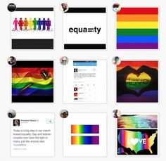 Rainbows flood instagram as people celebrate today's Supreme Court ruling in favor of marriage equality.