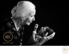 Bridget Corke Photography - Newborn with Grandmother in Studio: