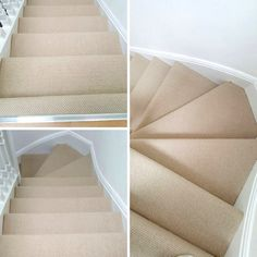 Supplying & Installing Plain Beige Carpet to Stairs