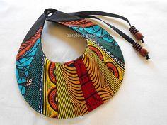 Statement fabric neck cuff Striking African Bib by BarefootModiste