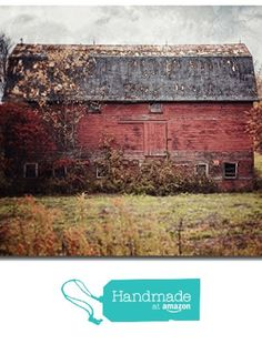 Rustic Wall Decor Barn Landscape - 'Deconstructed' - Red Country Barn Art Photo - Western Pennsylvania Autumn Home Decor Print in Red and Grey. from Lisa Russo Fine Art Photography https://smile.amazon.com/dp/B018J7DPWU/ref=hnd_sw_r_pi_dp_80.eybWZV6KGH #handmadeatamazon