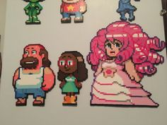 Perler Beads Greg, Connie and Rose by art-by-the-walrus on Tumblr