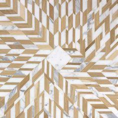 Marqueterie de bois et marbre Snowflake (Atelier Lilikpo) 2 | AD Magazine