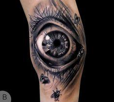 tatouage d'oeil par Andrea Afferni