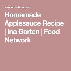 Homemade Applesauce Recipe | Ina Garten | Food Network