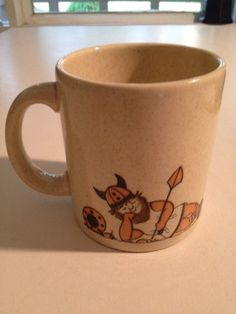 Vintage Waechtersbach West Germany Little Viking Coffee Mug