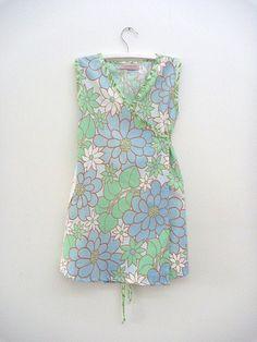 blue and white daisies dress   Explore thetexturedleaf