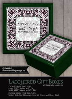 Tribal Aztec & Celtic inspired in cool light mint and black white anniversary weave borders. Wedding Gift Boxes, Wedding Anniversary Gifts, Wedding Gifts, Wooden Gift Boxes, Inside The Box, Golden Oak, W 6, Art Store, Box Art