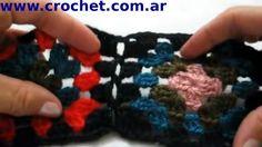 Unión Motivo N° 7 granny square en tejido crochet tutorial paso a paso.