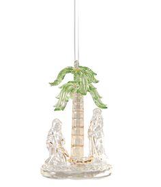Glass Tropical Nativity Ornament