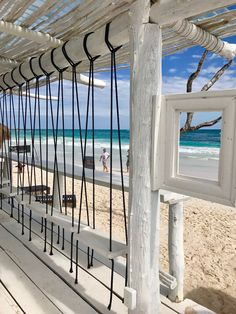 Beach Restaurant Design, Outdoor Restaurant, Coffee Shop Design, Cafe Design, Pergola, Balkon Design, Beach Furniture, Beach Cafe, Pool Bar