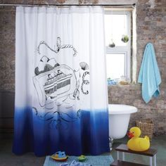Ship In A Bottle Shower Curtain | The Land Of Nod
