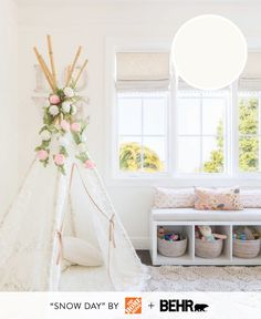 Looking for the perfect off-white paint color? Try Snow Day. Photography : Alyssa Rosenheck Photography Read More on SMP: http://www.stylemepretty.com/living/2016/08/29/5-of-the-sweetest-nursery-paint-colors-that-arent-pink-or-blue/