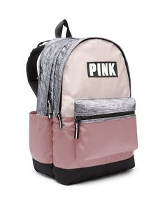 Campus Backpack Cute Backpacks For School, Cool Backpacks, Pink Backpacks, Cute School Bags, Leather Backpacks, Leather Bags, Vans Backpack, Backpack Bags, Pink Nation Backpack