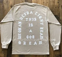 ee86a9caee42c I Feel Like Pablo Shirt Sand Long Sleeve Ultra Light Beam Kanye West Yeezy  Tlop Tour Merch