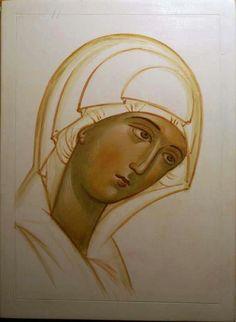 Byzantine Icons, Byzantine Art, Madonna, Religious Icons, Religious Art, Tin Foil Art, Paint Icon, Russian Icons, Catholic Art