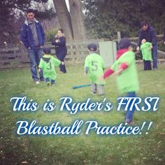 This is Ryder's FIRST Blastball Practice!!