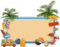 New Post kids summer vacation clip art Vacation Images, Clipart Gallery, Beach Clipart, Ocean Party, Art Folder, Clip Art, Label Paper, Frame Clipart, Borders And Frames