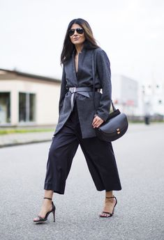 Outfit | Culottes   Belted Jacket