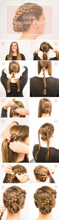 The braided updo : Perfect for prom or any formal occasion. This tutorial will walk you through all the steps to get the look you desire. #braids #hair #updo
