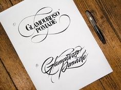 Calligraphy & Lettering Logos. Behind the scene, part 2 on Behance