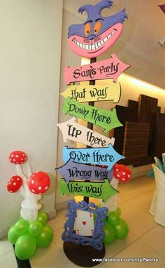Great way to decorate the corner and can be done with foam board for an affordable option.