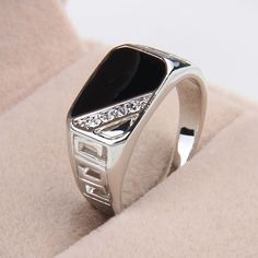 one piece fashion enamel men's zinc alloy US 7/8/9/10/11 square hollow out crystal popular europe style rings xydr189